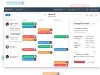 📆 Interface for scheduling interviews in HR ui modern simple flat candidates calendar schedule dashboard interviews