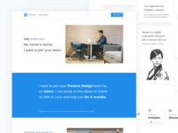 🤞 I want to join Intercom! minimal ui clean modern simple landing page intercom