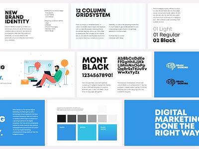 BrainDonors Guidelines marketing agency typography web brandguidelines guidelines brand guide brand identity brand