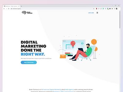 BrainDonors Homepage marketing agency branding landing page homepage ux ui webdesign
