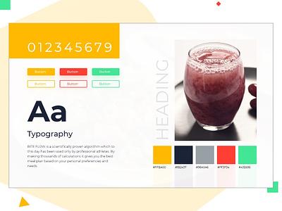 Moodboard brand typografy colors design moodboard