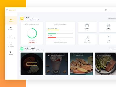 Meal Plan Application food app meal adobe xd webdesign ux ui dashboard design dashboard