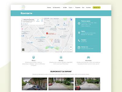 Nimass Contact page transport parking map contact us contact webdesign