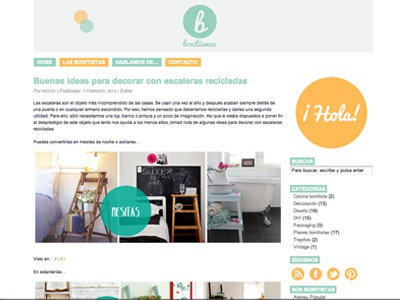 Design blog Bonitismos web design