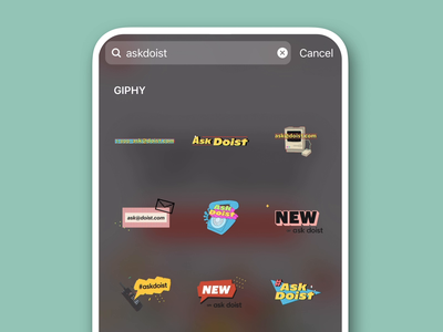 AskDoist Giphy stickers 90s giphy sticker giphy stickers sticker editorial todoist doist productivity illustration