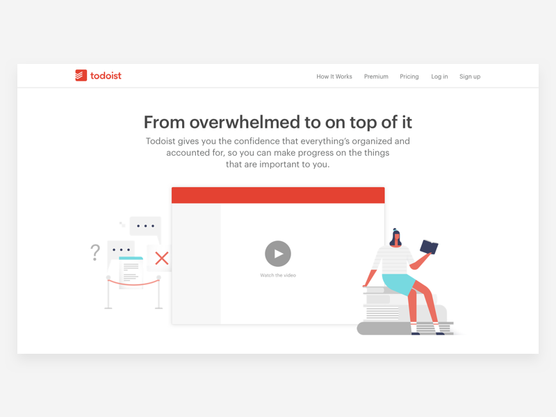 Todoist - How it works Illustration by Yin Weihung for Doist