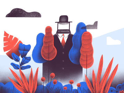 Should You Be Letting Your Employees Work Outside? peaceful ambition web life sketch header design twist doist todoist teamwork calm editorial illustration productivity