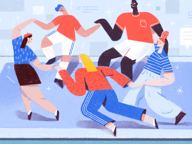 Keep Your Family Connected With Todoist character calm peaceful teamwork editorial web life todoist doist illustration productivity