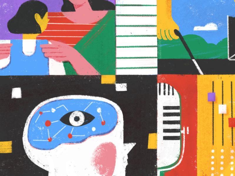 Asha Dornfest and Christine Koh ambition calm peaceful editorial todoist doist illustration podcast parenting balance