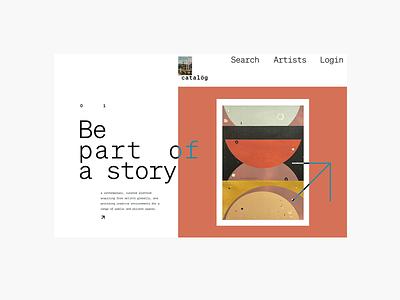 art catalög artwork ecommerce art concept landing product design design ux web ui