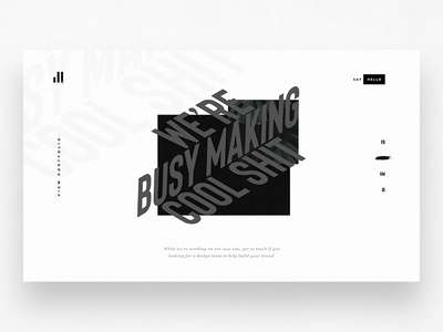 Malvah.co product design perspective black and white type mobile landing page desktop ux ui holding page website