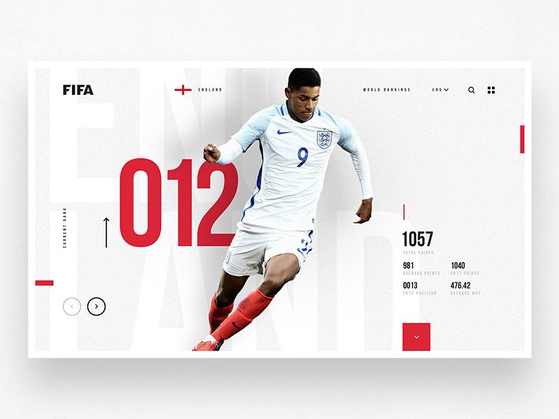 FIFA Rankings landing web design fifa data concept product design mobile desktop ux ui