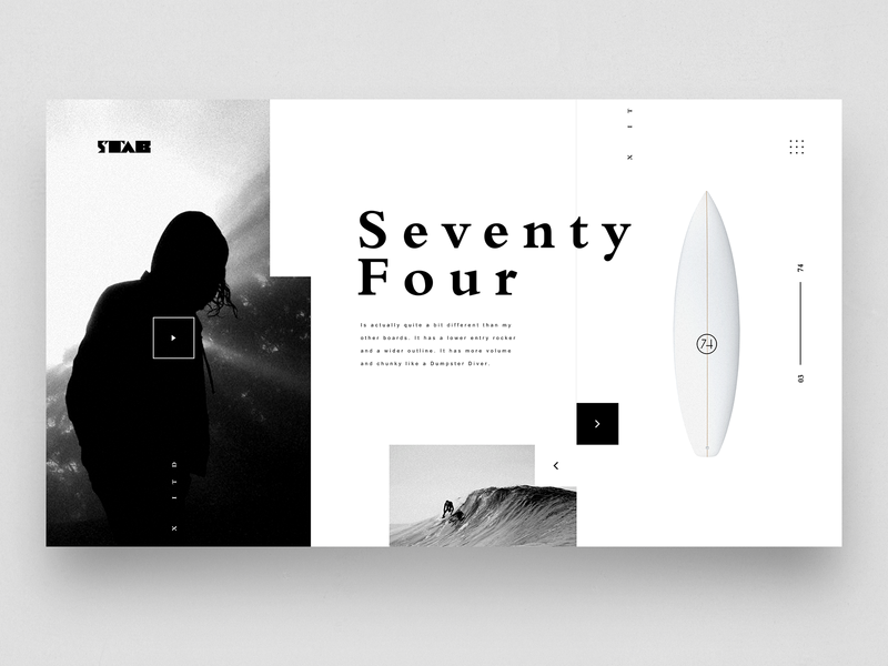 STAB x ITD surf typography landing product design design ux web ui
