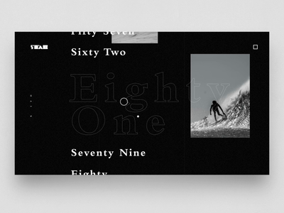 STAB x ITD video motion type surf menu concept typography product design design ux web ui