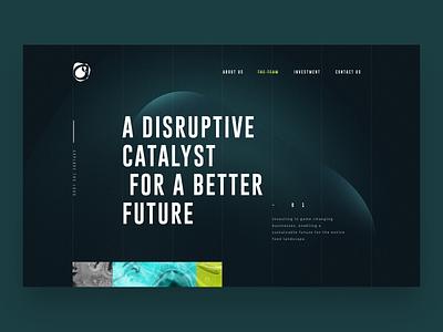 Hatchery tech disruption disruptive finance investment concept design ux landing web ui