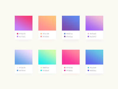 Soft Gradients (.sketch, .psd, .xd) color combination pantone free freebie xd sketch psd download color scheme colors gradients