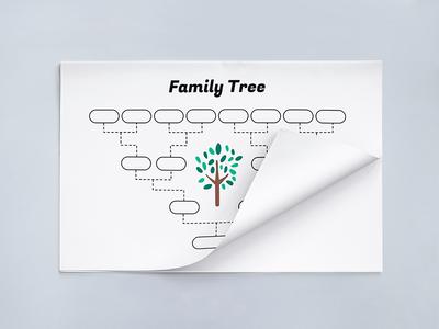 Simple Family Tree Template school print genealogy printable family tree vector family tree template
