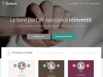 Babibook Homepage homepage fullscreen flat