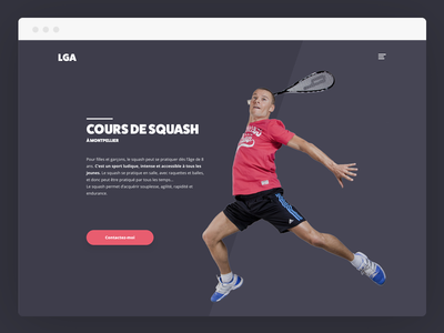 Squash Coach Single Page responsive page transition animations mini site single page one page