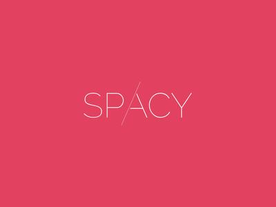 Logo Branding Design for Spacy space emblem typo icon type identity branding mark brand logtype logo