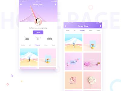 Home Page sketch ps app ui