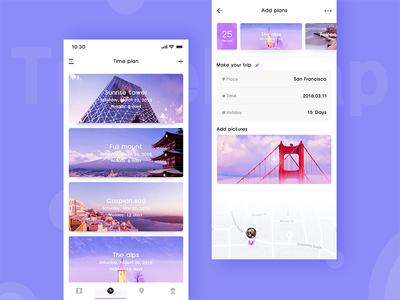 Time plan design app ps ue ui