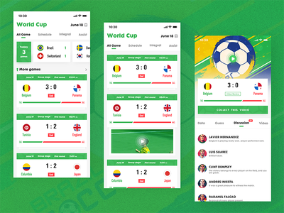 World Cup green ps games interface ui football sports
