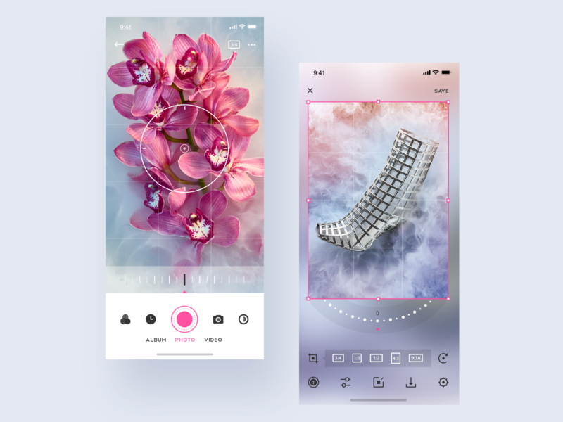 Taking pictures App interface sketch app ui