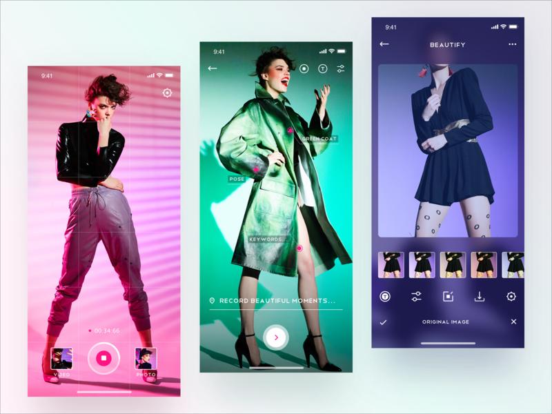 Photo manipulation design app sketch interface ui photo app