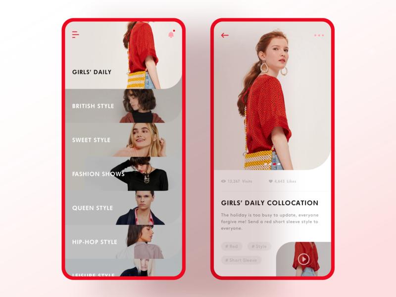 Dress collocation app dress collocation ue design sketch interface ui