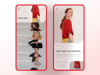 Dress collocation app dress collocation ue design sketch interface ui