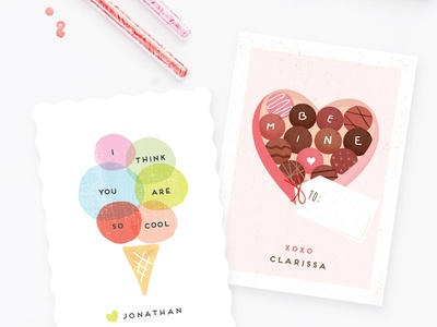 Valentines Classroom love heart design customizable valentine stationery minted card valentine classroom