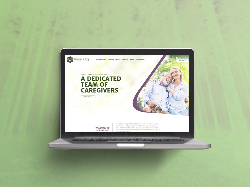 Nursing Home homepage nursing home wordpress html css css web development websitedesign