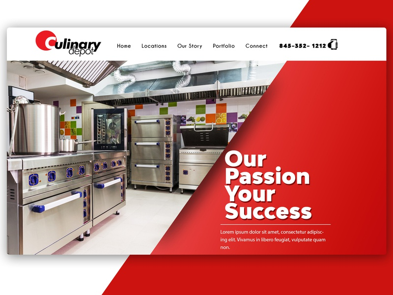 Culinary Depot css html5 wordpress design graphic  design web development websitedesign