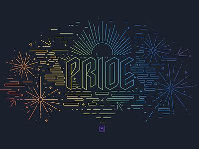 Heroku Pride pride line art heroku illustration pride month
