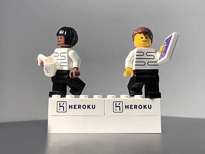 Heroku Legos logo design heroku lego