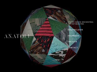Anatole mobile friendly homepage web design 3d webgl electronic music anatole teef records