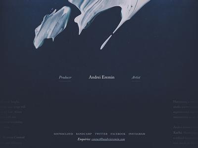 Andrei Eremin - Website navigation ui website