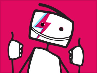 Ztickman - A Tiny Unbounders Tribute To Bowie unbound stickman bowie