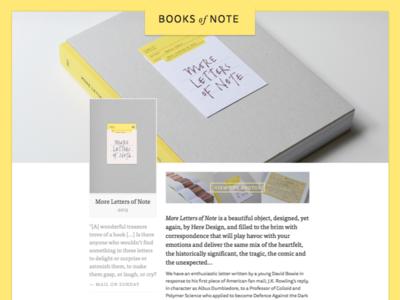 Books of Note universal app react ui website