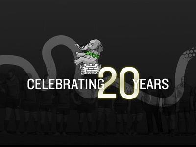 Kings Cross Steelers RFC - 20th Anniversary anniversary gold logo branding rugby