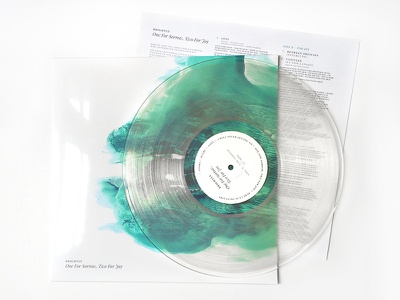 Brightly - One For Sorrow, Two For Joy Vinyl music crowdfunding packaging vinyl print