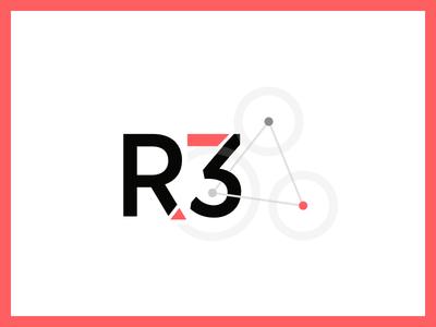 React + Three Playground Logo simple vector three react logo