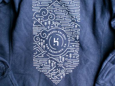 Shinzoku-Kai 2017 Hoodie illustration conference print line art hoodie clothing