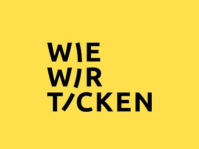 Wie wir ticken - Exhibition Design branding logo exhibition design