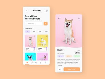 Pet Adoption App dailui design adobexd uidesign petshop ui