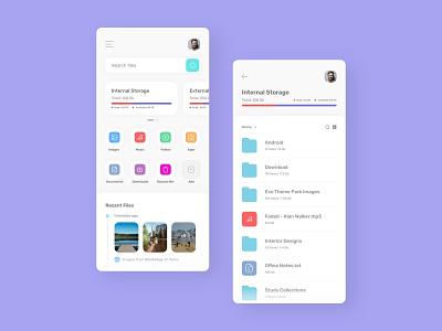File Manager App ui design design file manager mobile app concept design dailui adobexd app uidesign ui