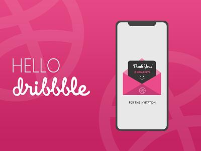 Hello Dribbble! thank you app design graphic design graphics debut shot first shot ui design illustration design