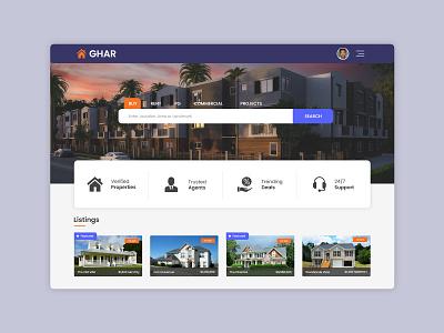 Property Portal madewithxd adobexd property search real estate web design ui ui design dailui