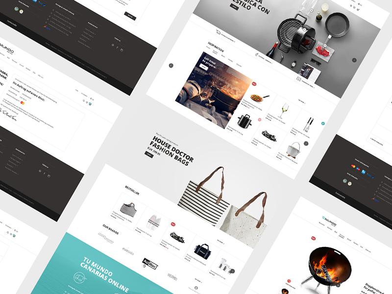 Tu Mundo — Online shop website ux user usability ui shop online interface design